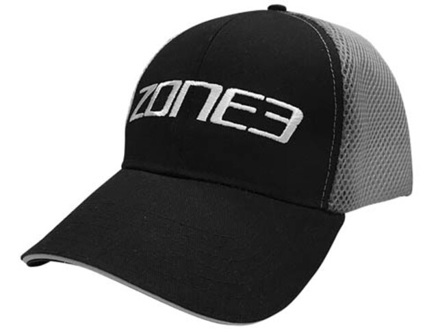 Zone3 Trucker Mesh Cap, black/grey